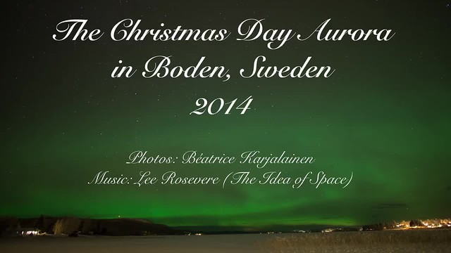The Christmas Day Aurora in Boden 2014