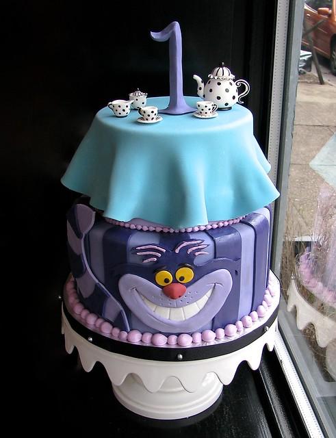 Cheshire Cat Tea Party Cake