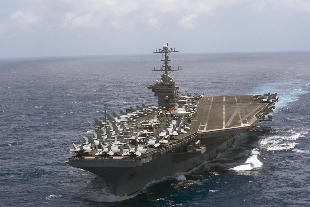 The Aircraft Carrier Uss Harry S Truman Cvn 75 Transits