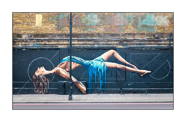 Street Art (Sam King), East London, England.