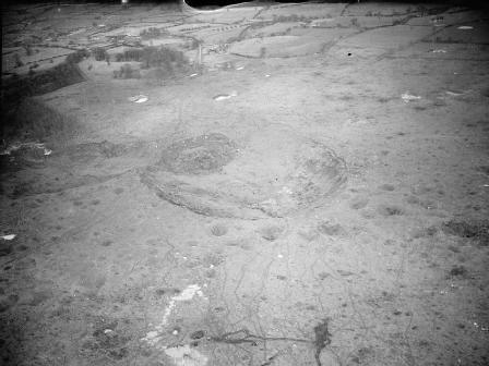 Cráter producido por la explosión de Fauld