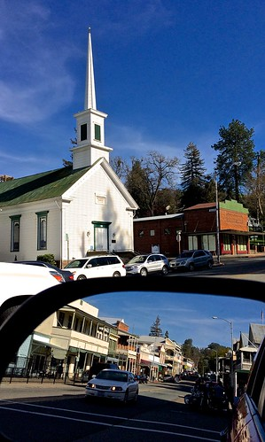 church rearviewmirror suttercreek amadorcounty
