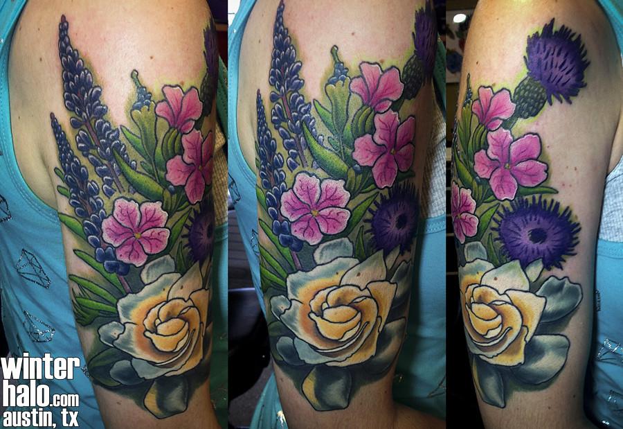 f1eb2cb24cda7 ... winterhalotattoo Texas Wildflowers Tattoo by Chris Hedlund | by  winterhalotattoo