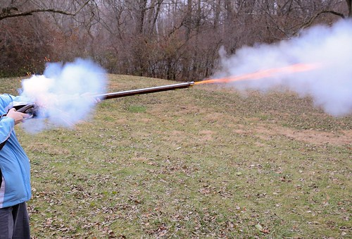 Flintlock firing