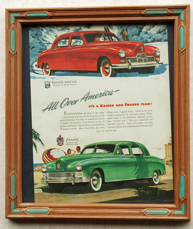CM031 Kaiser and Frazer Car Ad Framed DSC04133
