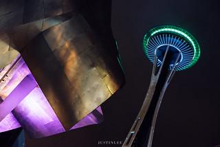 Seattle Space Needle   by www.justinleewedding.com