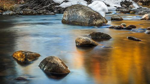 longexposure winter snow river colorado stream unitedstates vail gorecreek intensifypro