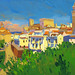 Carmona skyline, Gouache on paper, 50x33cm
