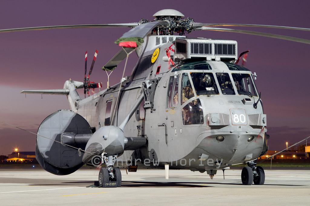 Royal Navy SeaKing ASaC.7 at Northolt.
