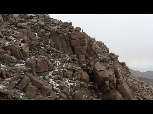 1716 Video of thunder and hail. which haven't stopped, but we are going to descend the Mount Whitney Trail