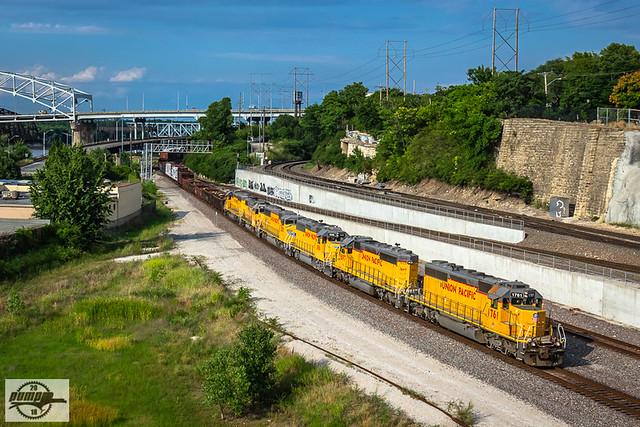 Westbound UP Yard Job Train at Kansas City, MO