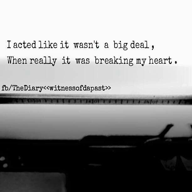Sad Love Quotes : My Heart was broken when you left me