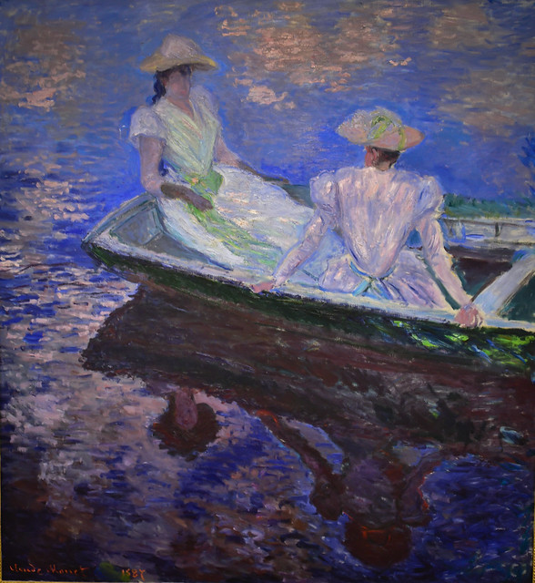 Claude Monet - On the Boat, 1867 at National Museum of Western Art - Tokyo Japan