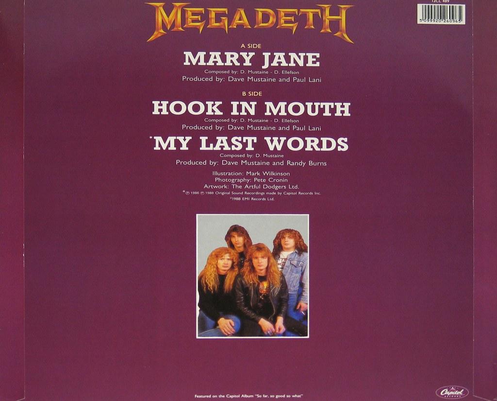 "MEGADETH Mary Jane Usa 12"" Maxi-Single | MEGADETH Mary Jane … | Flickr"