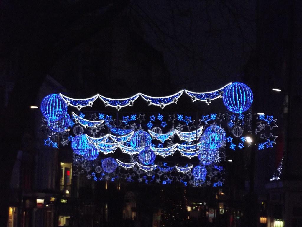 Birmingham Christmas Lights.New Street Birmingham Christmas Lights On Christmas Eve