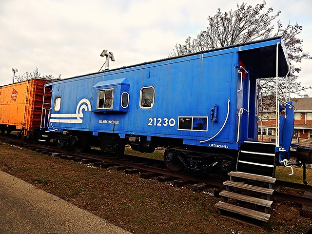 Conrail caboose at Elkhart Indiana