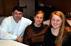 Sanderson HS student (on right) Maggie Lee brought her dad Allen and mom Ann to today's Essay Contest.