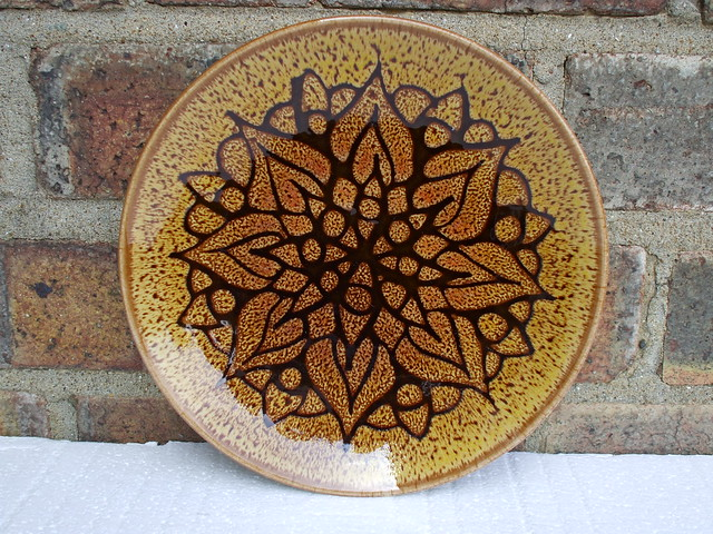 Poole Pottery Large Aegean Plate Mid Century Modern 1970's Design