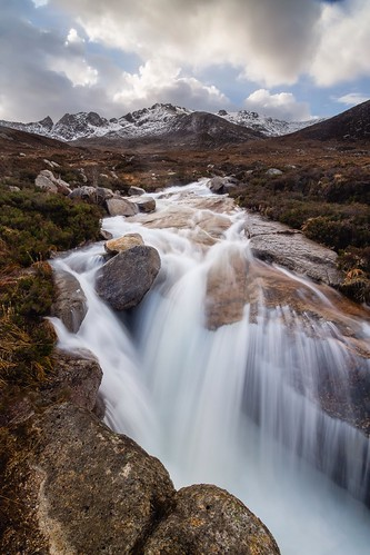 sky mountain water scotland waterfall europe glen isle arran ayrshire cirmhor sannox
