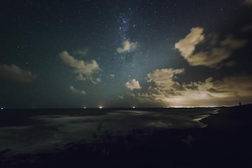 beach night high australia queensland sunshinecoast highiso milkyway starlight coolum pointarkwright