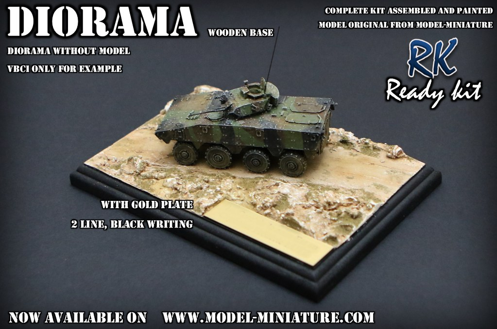 Diorama with gold plate | Kit available on www model-miniatu