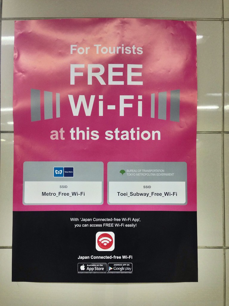 HOW TO : Connect to free WiFi on Tokyo Metro / Toei Lines