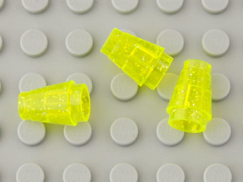 339 Transparent Fluorescent Green with Glitter / Glitter Trans-Neon Green | by Brick Colorstream