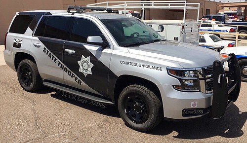 Arizona State Trooper - 2016 Chevy Tahoe - Commercial Vehicle Enforcement Photo