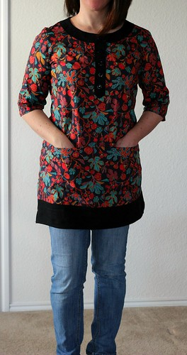 Simplicity 2211 Lisette Market Tunic in Liberty of London Alma | by wandering spirit designs