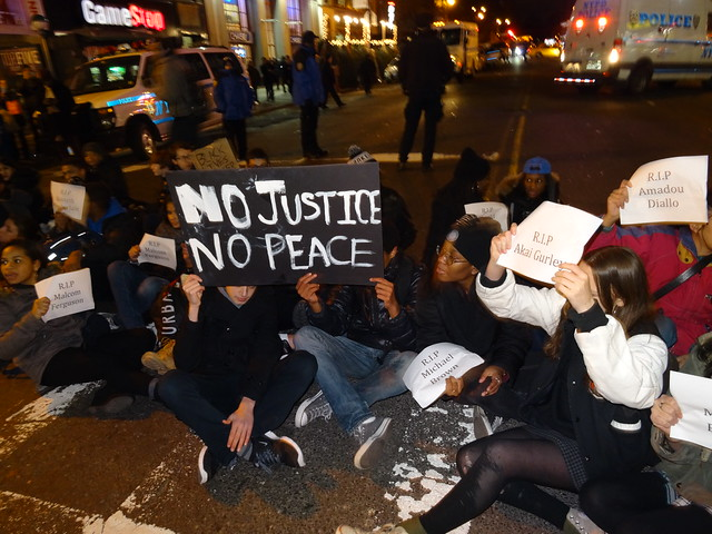 no justice no peace die-in