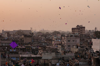 Sky filled with kites in Ahmedabad, Gujarat, India | by sandeepachetan.com