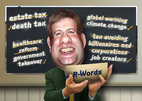 Frank Luntz - Caricature, From CreativeCommonsPhoto