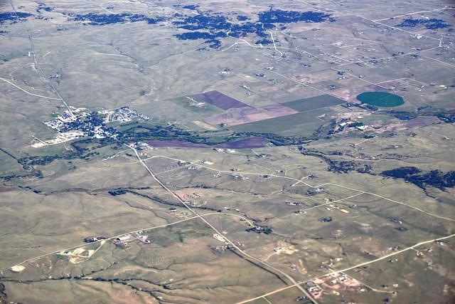 A View of Farmlands in Colorado