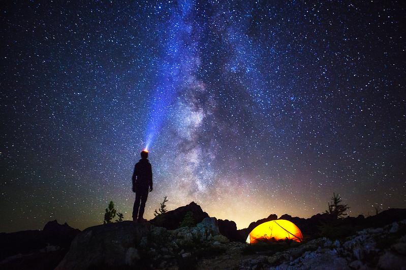 North Cascades Milky Way tent by Michael Matti