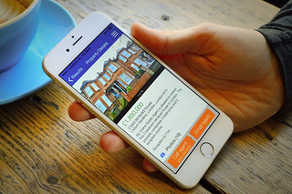 Browsing properties on a white iPhone 6 | by myonlineestateagent