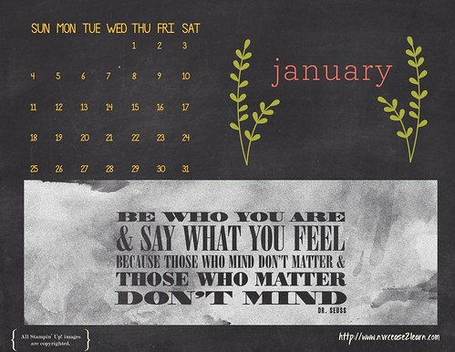 2015 January Wallpaper | by Never Cease 2 Learn