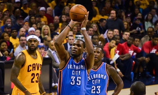 LeBron James and Kevin Durant | by EDrost88