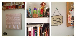 wall collage sewing room | by Jilly @ DSC