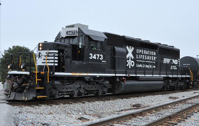 NS#3473 EMD SD40-2 ROSTER OLS EX-NREX BNSF BN FOSTORIA,OHIO 12-5-14 FRIDAY