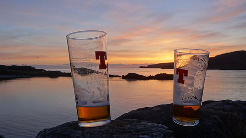 sunset scotland highlands tennents