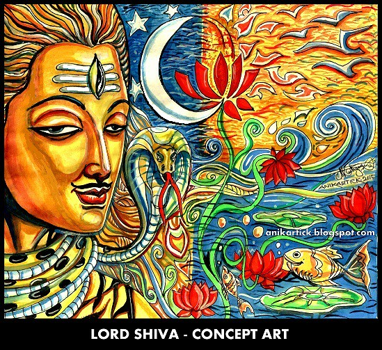 LORD SHIVA PAINTINGS - CONCEPT ART - 103 - Artist Anikarti… | Flickr