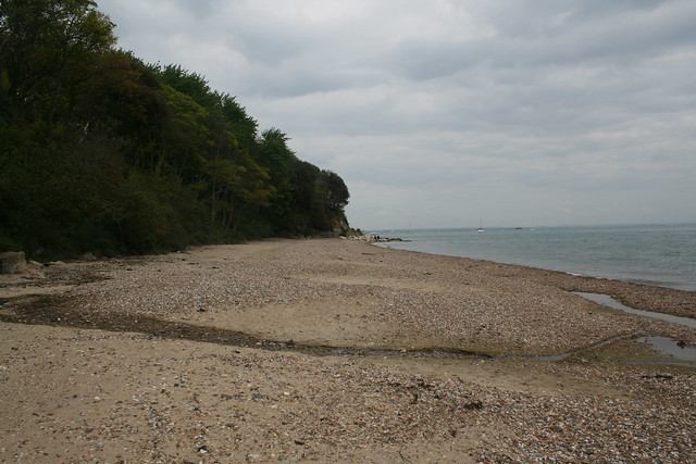 The beach at St Helens, Isle of Wight