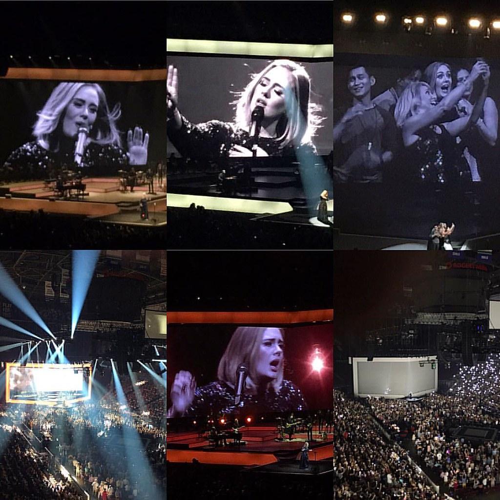 Memories of last night's @adele concert at @rogersarena. Unforgettable. #adele #25 #19 #bucketlist