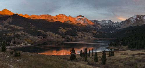 colorado fall roadtrip sunset troutlake ophir
