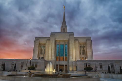 sunset church angel temple utah mormon lds ogden moroni