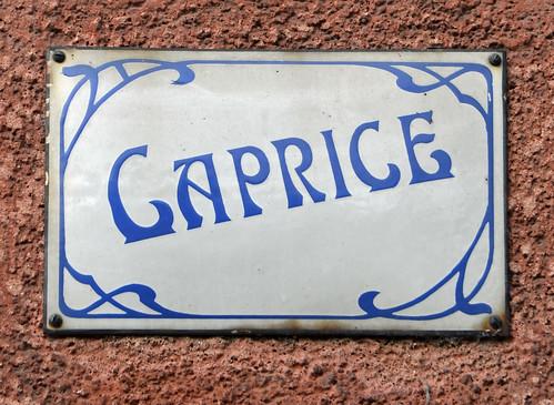 Caprice - enamel house name sign | Monceau | Flickr