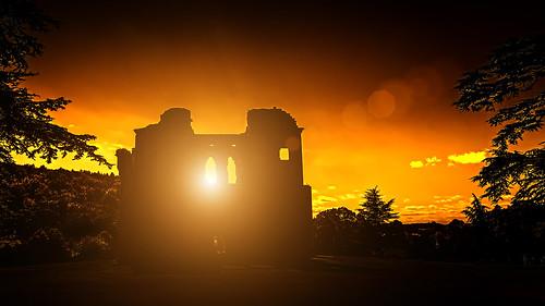 sunset castle sunrise nikon oldwardourcastle nikond7000