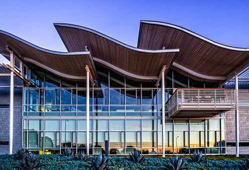 california city beach architecture hall center newportbeach newport civic civiccenter