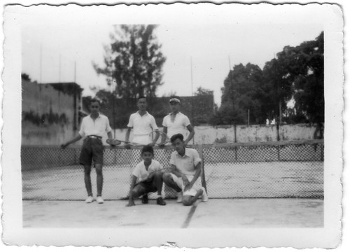 Tennis partners in the Dutch East Indies innthe thirties