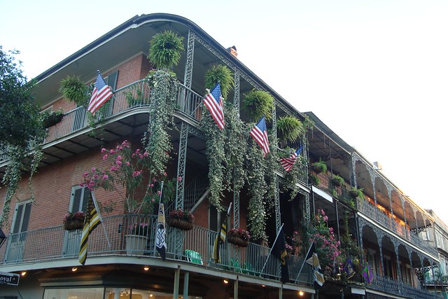 Beautiful balconies in the French Quarter